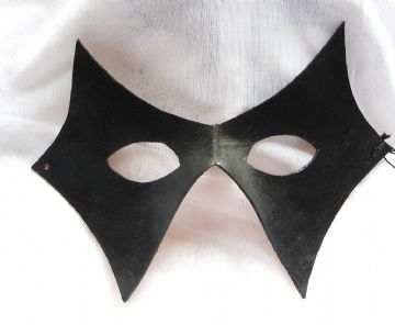 Genuine Handmade Unique Italian Diamond Unisex Leather Mask